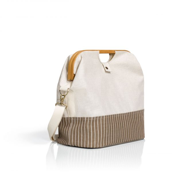 """Store & Travel Bags """"Canvas & Bamboo"""" in Natur"""