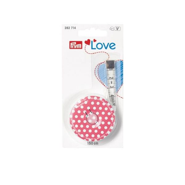 Rollmaßband Prym Love, pink, 150cm