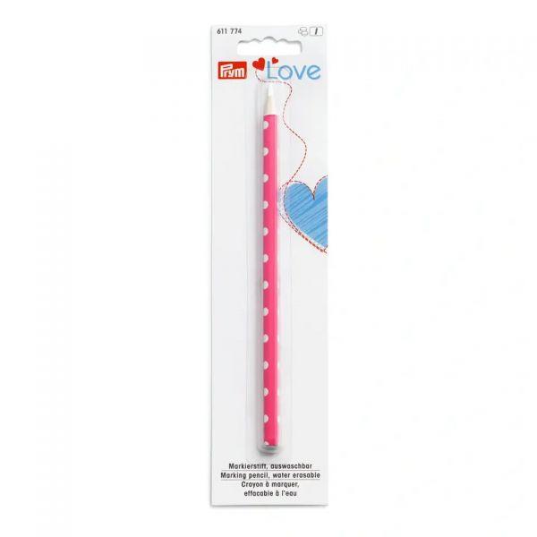 Markierstift Prym Love pink, weiße Markierung