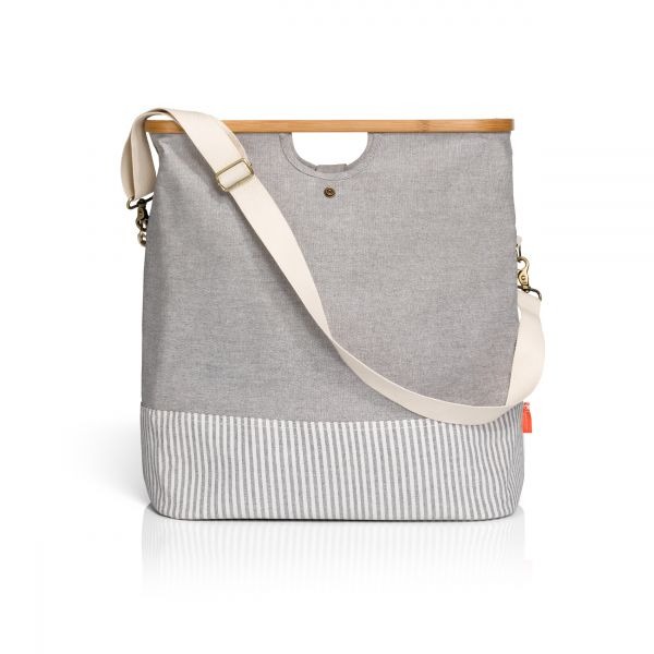 """Store & Travel Bags """"Canvas & Bamboo"""" in Grau"""