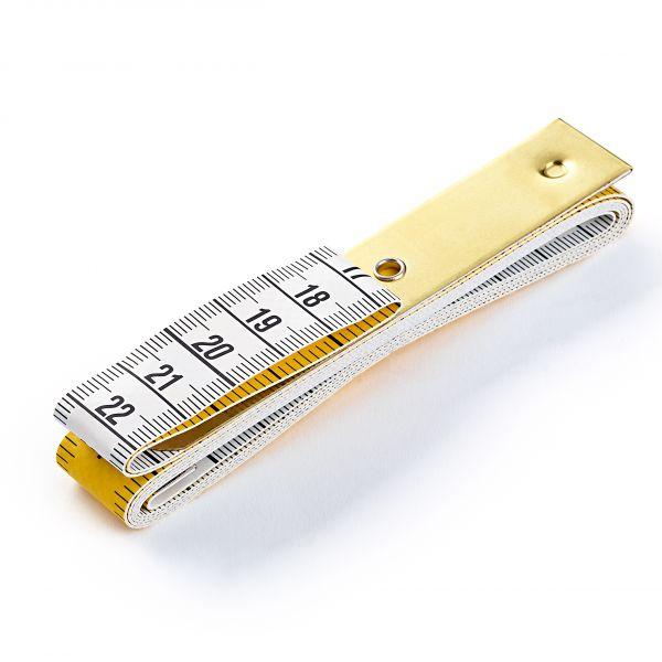 Maßband Profi mit Metallplatte, cm und inch Skala