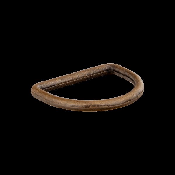 Metall-D-Ring - Halbrund