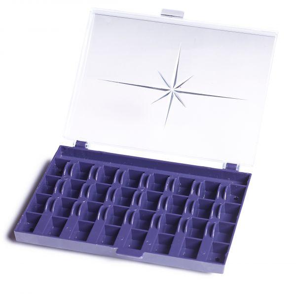 Spulenbox für 32 Nähmaschinenspulen